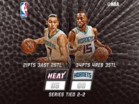 JLin and Kemba Powered the Hornets With 55 to Beat the Heat;  Lin Banked a 3 plus Jordan Shrug