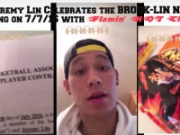 #7 Jeremy Lin Signs with the Brooklyn Nets on 7/7, Celebrates with Cheetos
