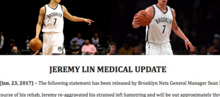 Jeremy Lin Out 3-5 More Weeks due to Reinjured Hamstring during Rehab