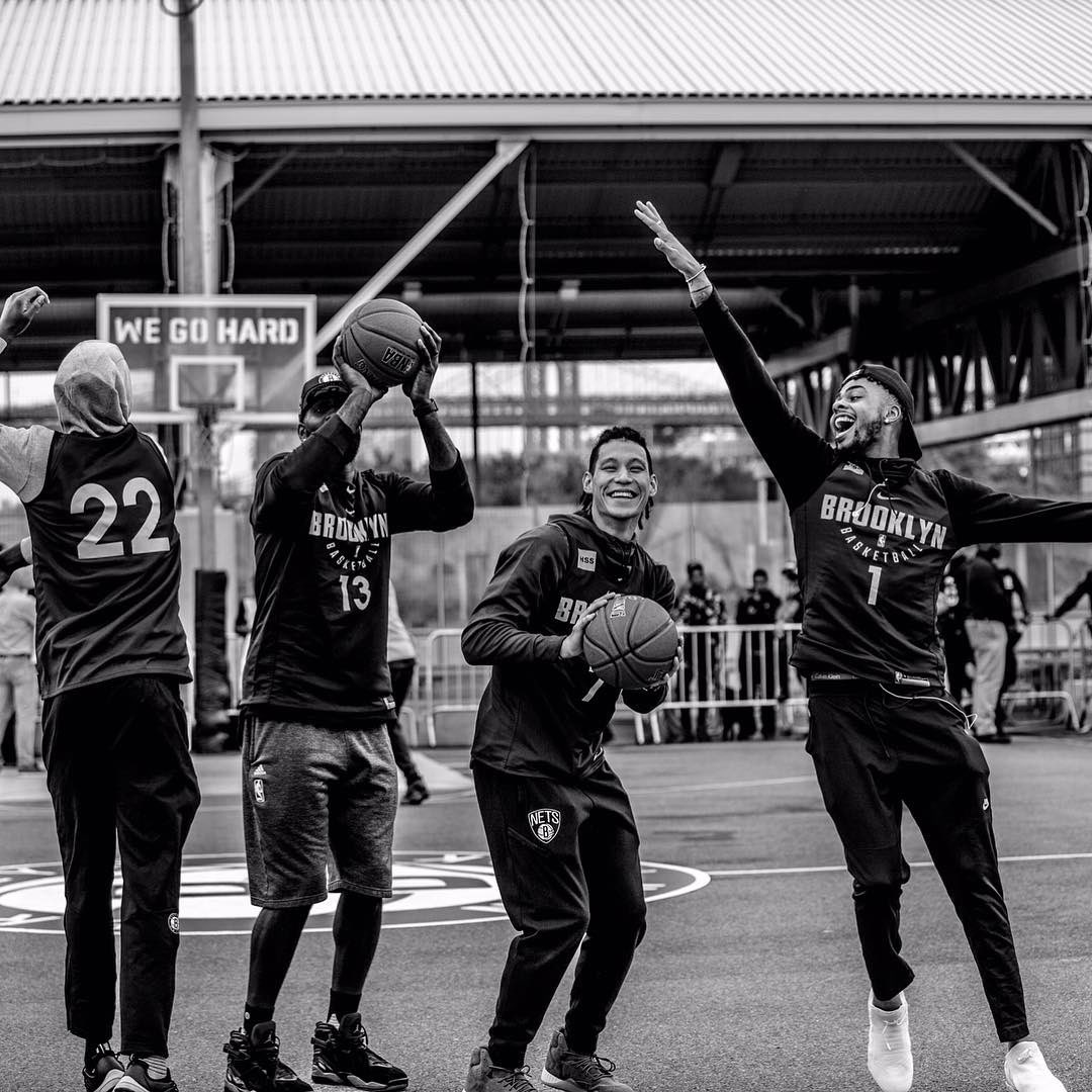6944cb47ea4 Culture. Family. Playing Together. Unselfishness.  WeGoHard. The Nets  picture taken at the Practice at the Park seems to perfectly capture what  the Nets ...